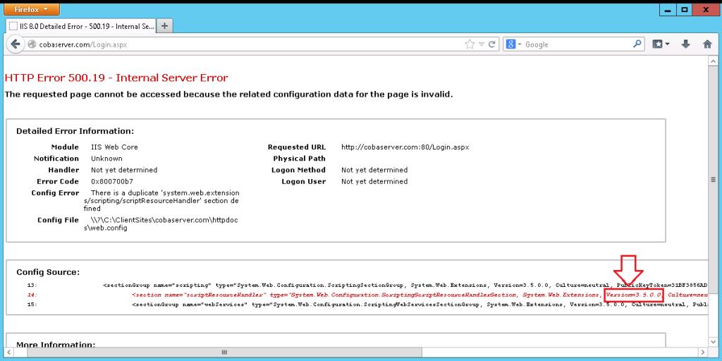 ASP NET CORE IIS HTTP ERROR 500 19 INTERNAL SERVER ERROR