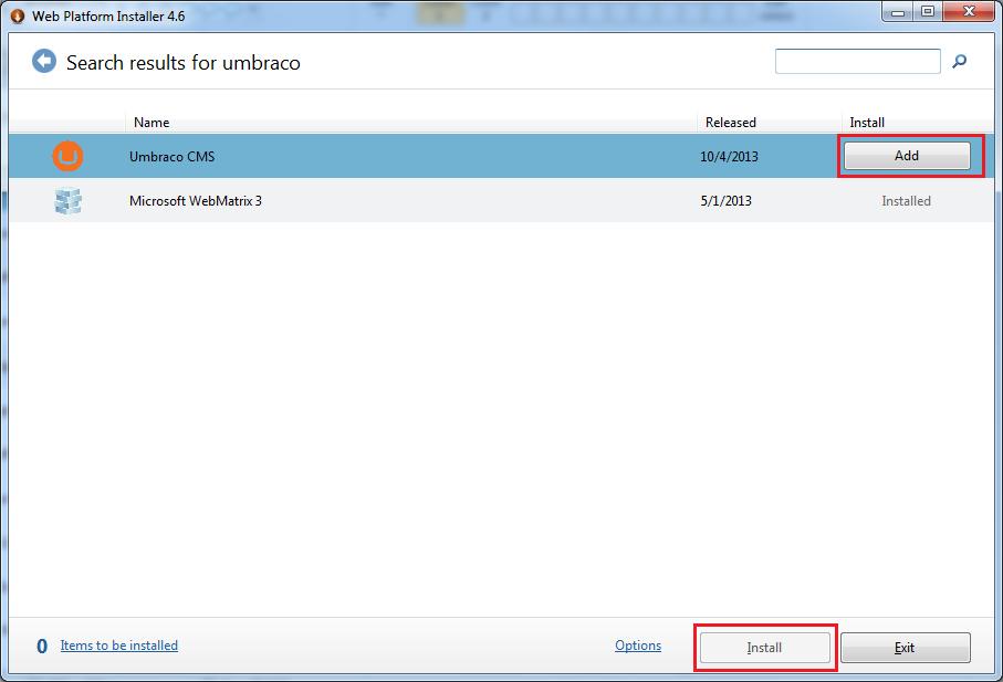 Cara Instal Umbraco Melalui WebMatrix Web Deploy 2
