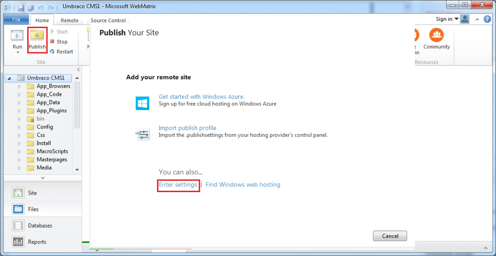Cara Instal Umbraco Melalui WebMatrix Web Deploy 3