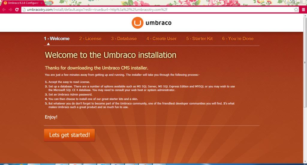 Cara Instal Umbraco Melalui WebMatrix Web Deploy 6