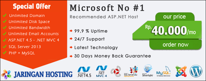 SQL Server 2012 Hosting Indonesia - Jaringan Hosting