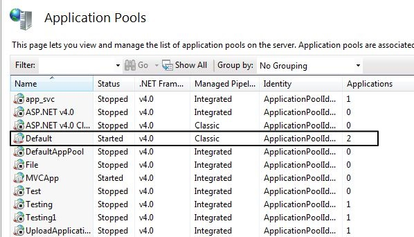 AppPool-in-IIS