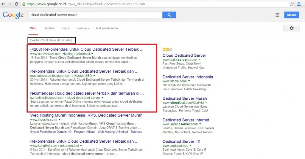cloud dedicated server Indonesia