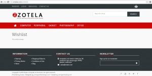 Wishlist Page di Zotela.com