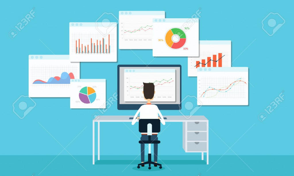 32357697-business-people-analytics-business-graph-and-seo-on-web-Stock-Vector